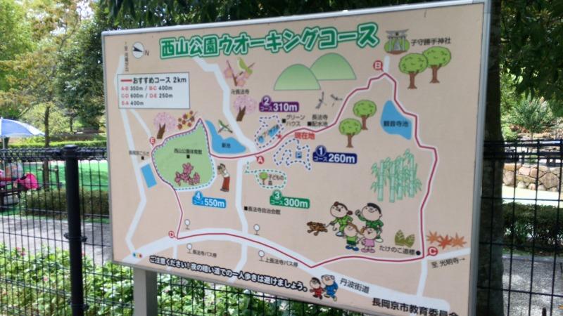 西山公園ウォーキングマップ