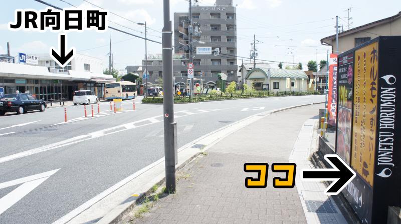 めっちゃJR向日町駅前!